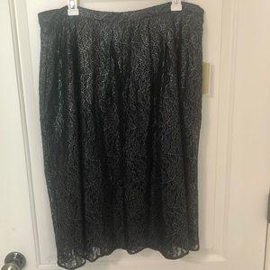 NWT Michael Kors Black/Silver Lace Skirt